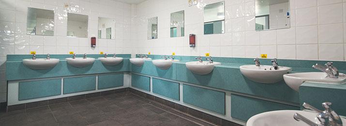 Red Shoot Men's Bathroom Sinks