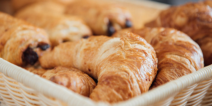 Fresh baked croissants at Red Shoot