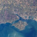 Hampshire photographed from space by ISS astronaut Tim Peake